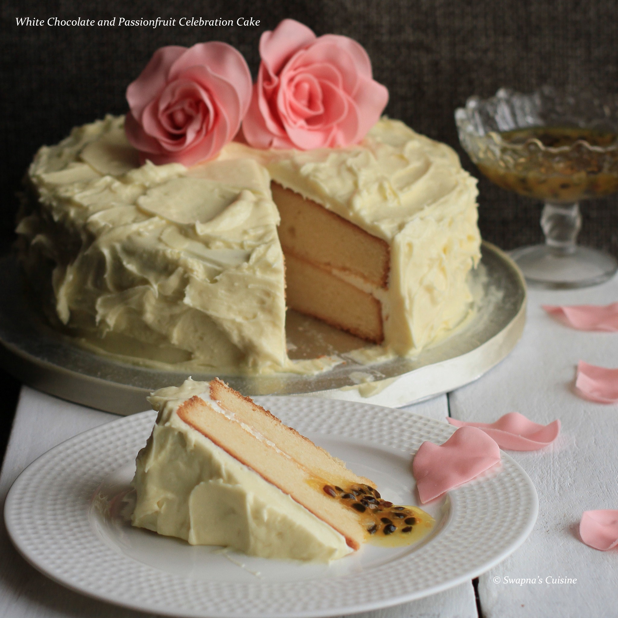 white chocolate mud wedding cake recipe swapna s cuisine white chocolate and passionfruit 27259